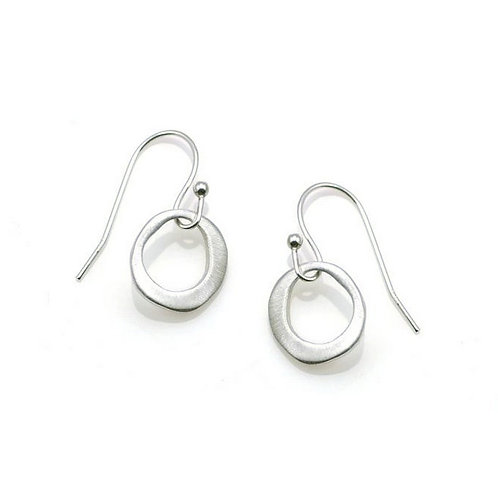 Hope Small Circle Silver Earrings by Philippa Roberts
