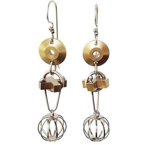 XO Sphere Earrings by Thomas Mann
