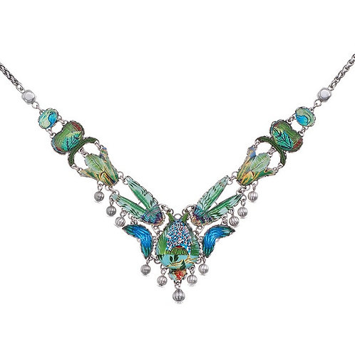 Sweet Leaf Green River Necklace by Ayala Bar R3179