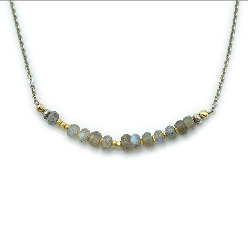 Faceted Labradorite Necklace by J & I -  LGX208N