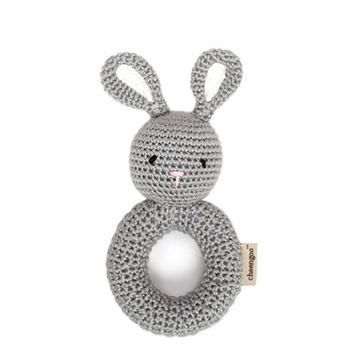 Bunny Crocheted Ring Rattle by Cheengoo