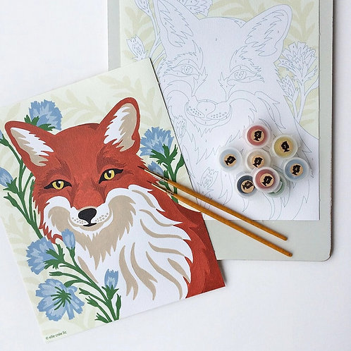 Fox with Chicory Paint-by-Number Kit by Elle Crée