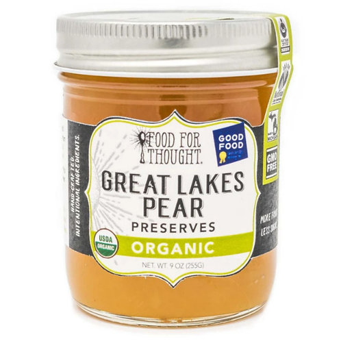 Great Lakes Pear Organic Preserves by Food for Thought