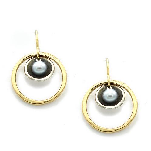 Freshwater Pearl Earrings by J & I -  FGP7E
