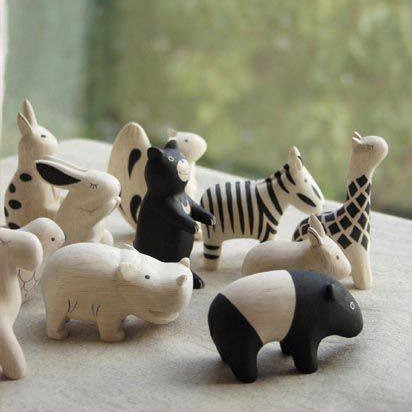 Carved Pole Pole Animals by GLA