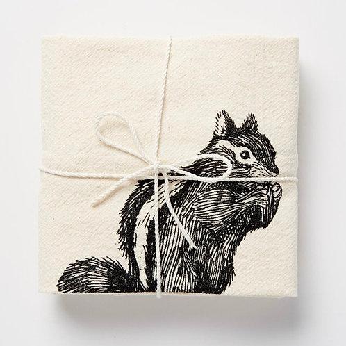 Chipmunk Flour Sack Towel by SKT