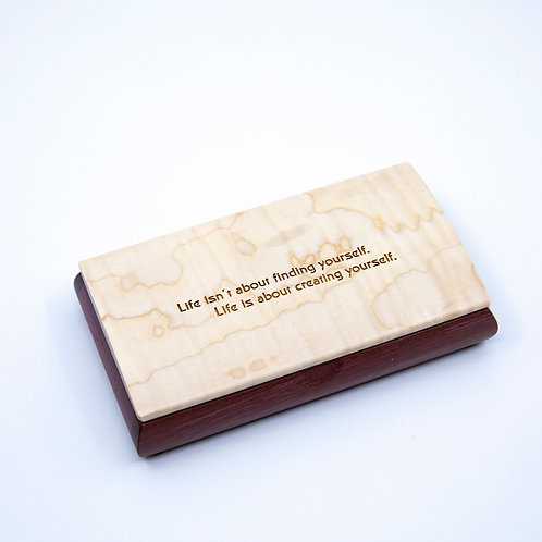 George Bernard Shaw Quote Box by Mikutowski Woodworking