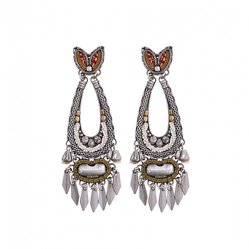 Silver Splendor N1528 - Indigo Earrings by Ayala Bar