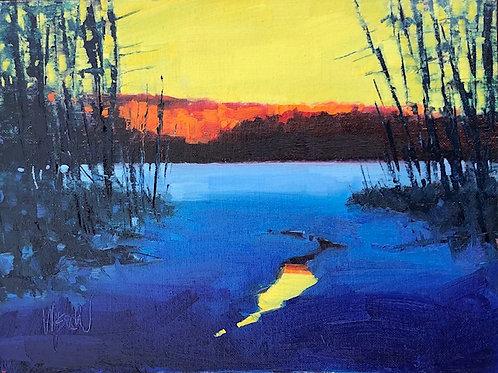 "'Open Water' Framed 9"" x 12""  Oil on Canvas by Stephen Wysocki"