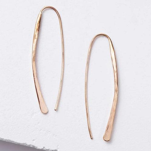Drop Gold Earrings by Zuzko