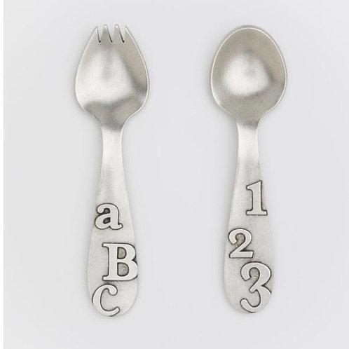 ABC/123 Spoon Set by Beehive Handmade