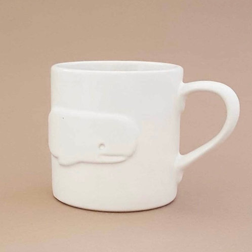 Ceramic Whale Cup by Beehive Handmade