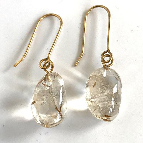 Eco-Resin Taguilla Dandelion Earrings by Belart