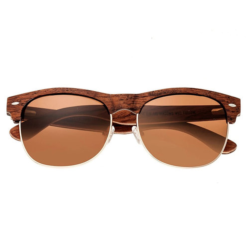 Moonstone Red Rose Wood Browline Sunglasses by Earth Wood