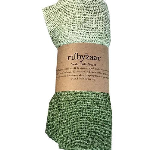 Peridot Wabi Silk Scarf by Rubyzaar