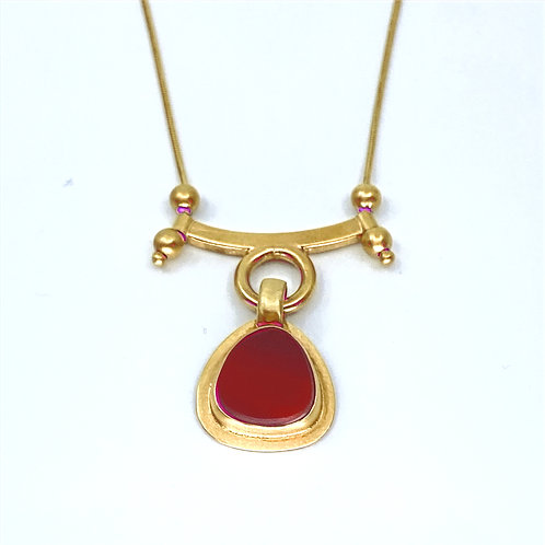 Fire Red Sliding Necklace by Amy Faust