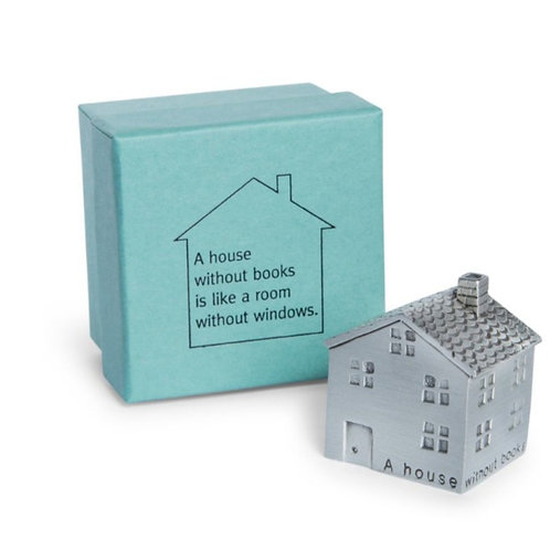 A House Without Books Paperweight by Danforth