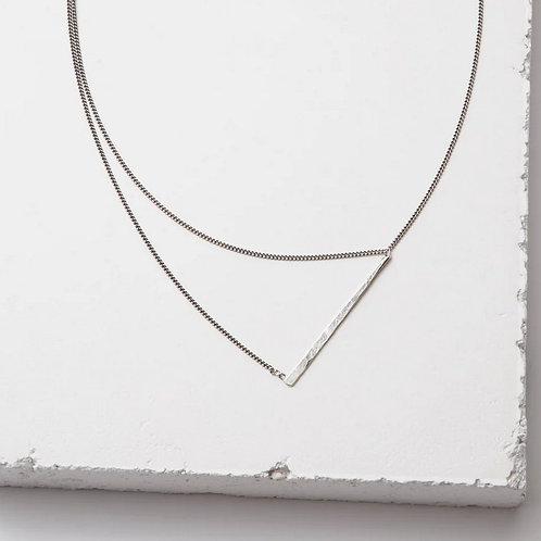 Silver Bandana Necklace by Zuzko