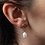 Thumbnail: Sunrise Earrings with Pearl Drop by Goldeluxe Jewelry