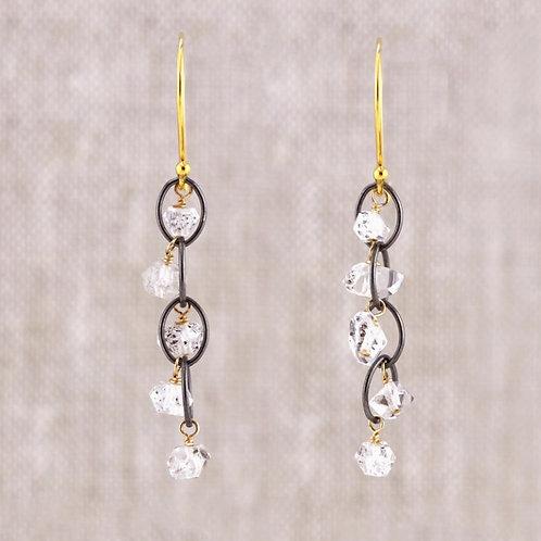 Herkimer Diamond 5 Stone Earrings by Alicia Van Fleteren