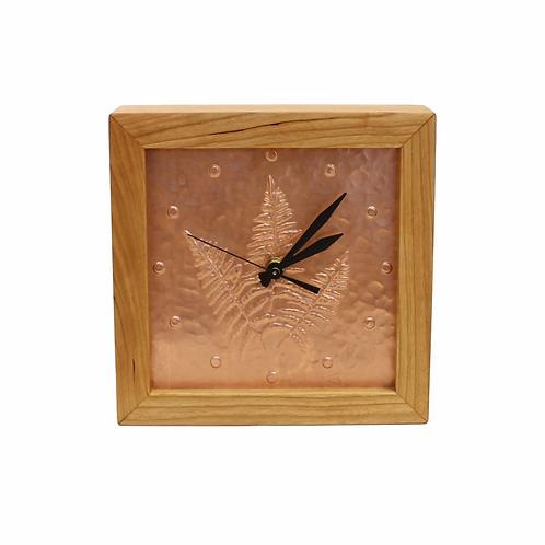 Copper Fern Box Clock by Sabbath Day Woods
