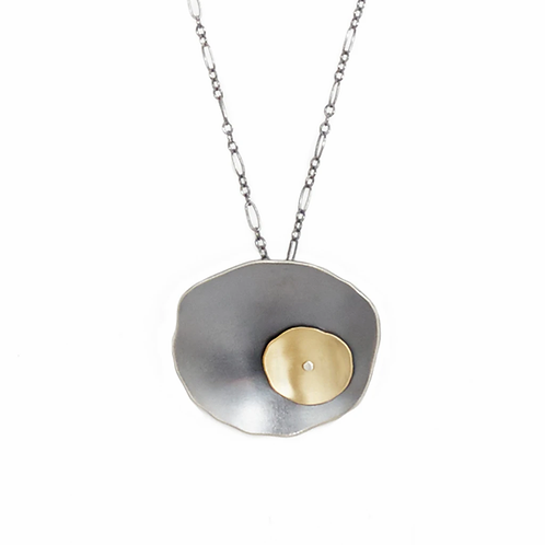 Offset Flutter Pendant by Lisa Crowder