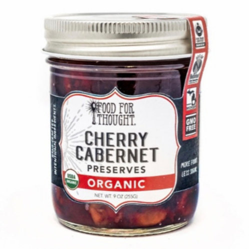 Organic Cherry Cabernet Preserves by Food For Thought