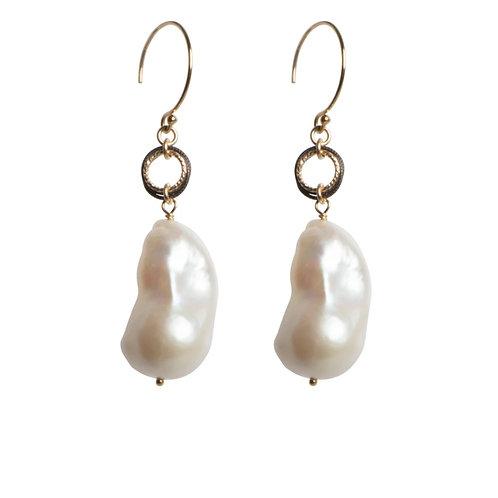 Baroque Pearl Earrings by Tracy Arrington