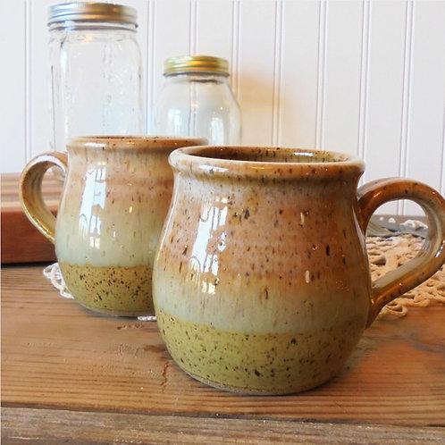 Farmhouse Belly Mug in Seagrass & Caramel by B. Robertson
