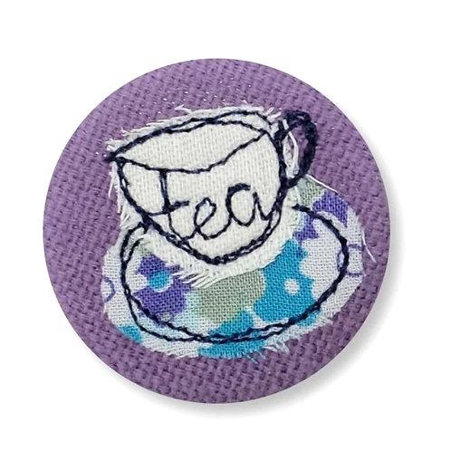 Cup of Tea Badge by Poppy Treffrey