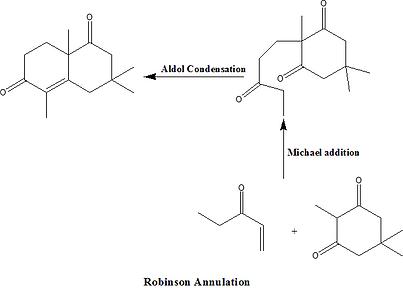 Adol Condensation, Michael addition, Robinson Annulation