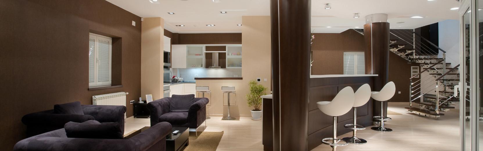 Modern ház enteriőr