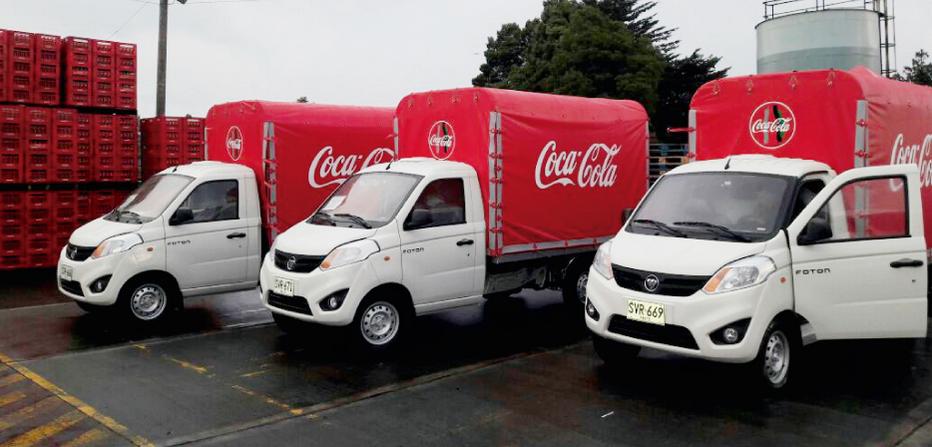 Foton y Coca Cola en Colombia