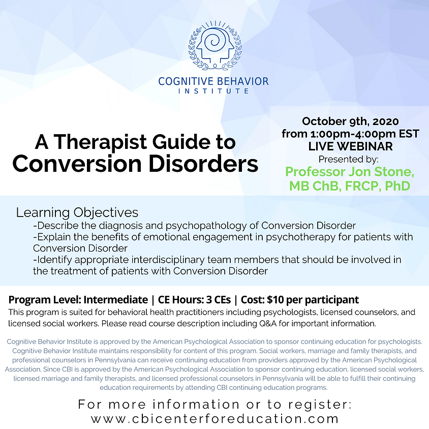 A Therapist Guide to Conversion Disorders