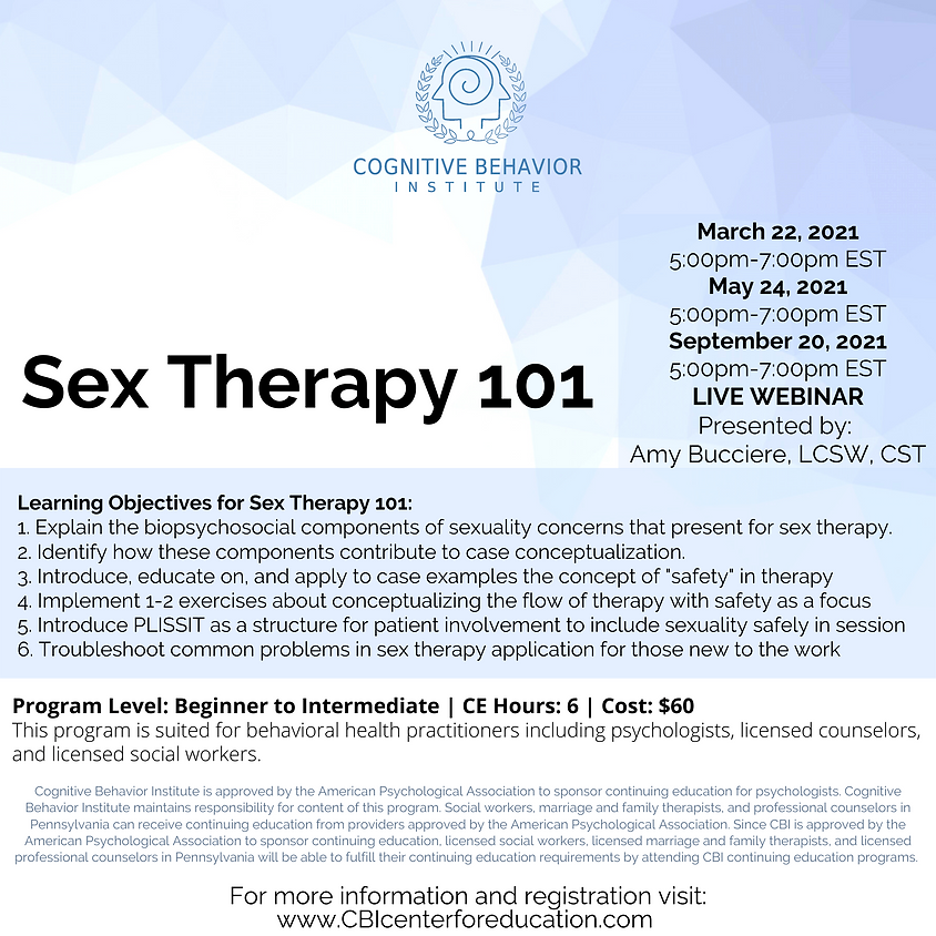 Sex Therapy 101