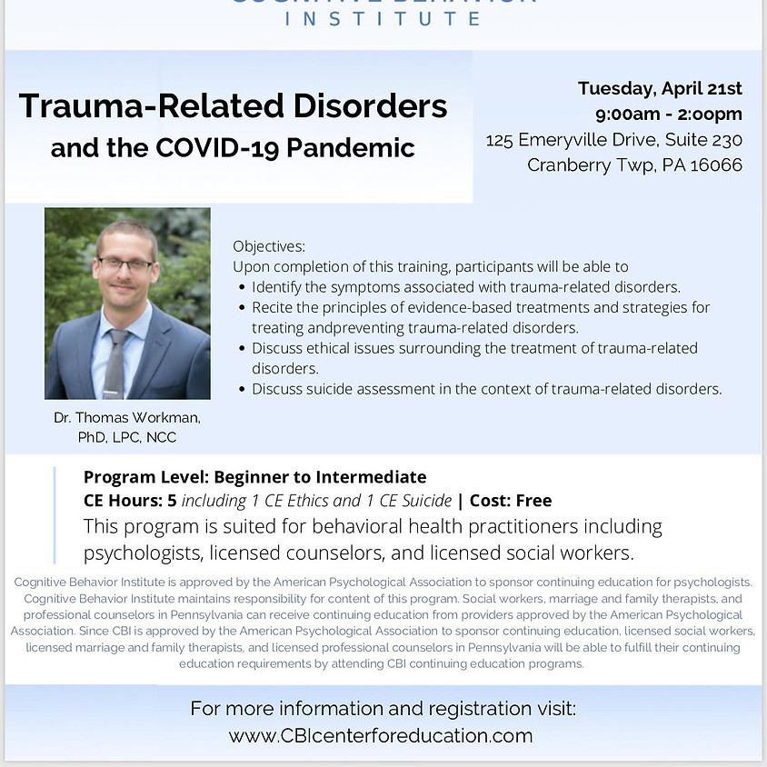 Trauma-Related Disorders and the COVID-19 Pandemic
