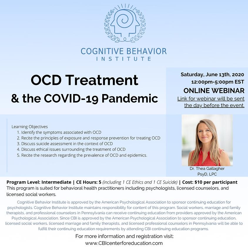 OCD Treatment & The COVID-19 Pandemic