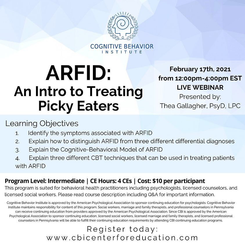 ARFID: An Intro to Treating Picky Eaters