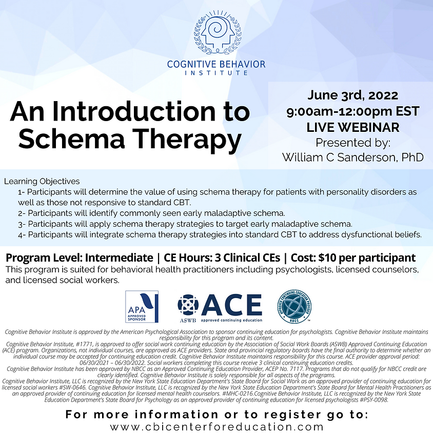 An Introduction to Schema Therapy