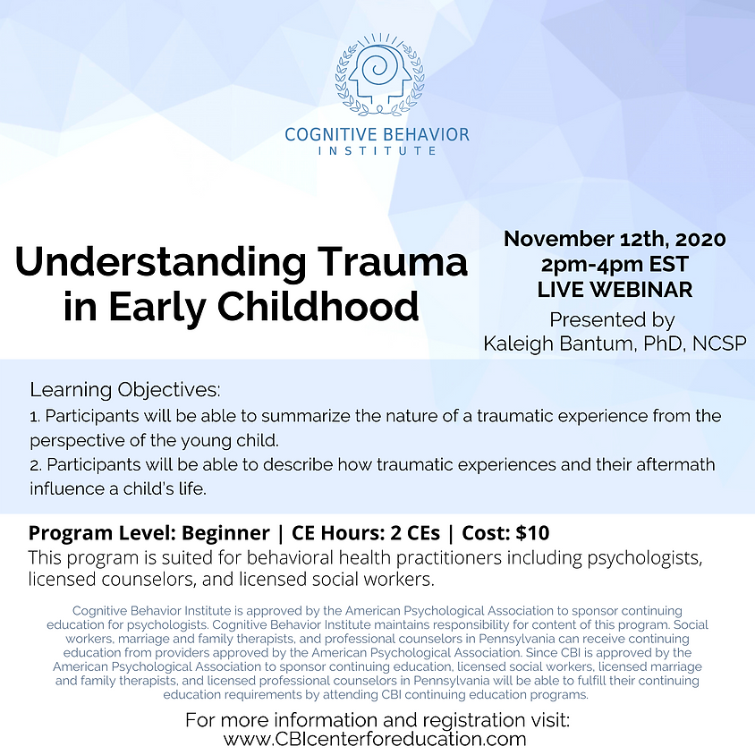Understanding Trauma in Early Childhood