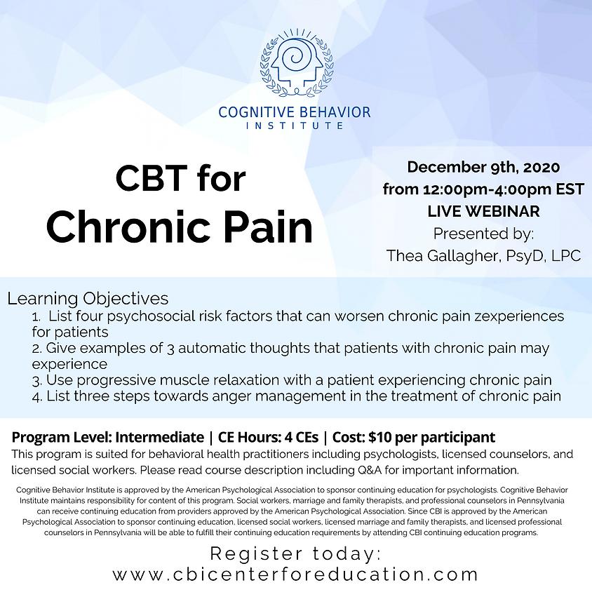 CBT for Chronic Pain
