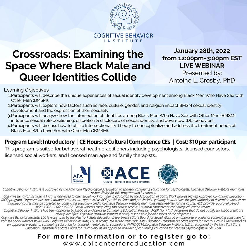 Crossroads: Examining the Space Where Black male and Queer Identities Collide