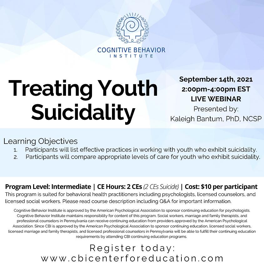 Treating Youth Suicidality