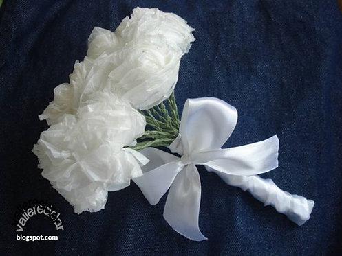 Buquê de Flores de Plástico