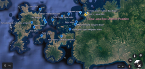 Komodo island map, the map of komodo, komodo island tour map