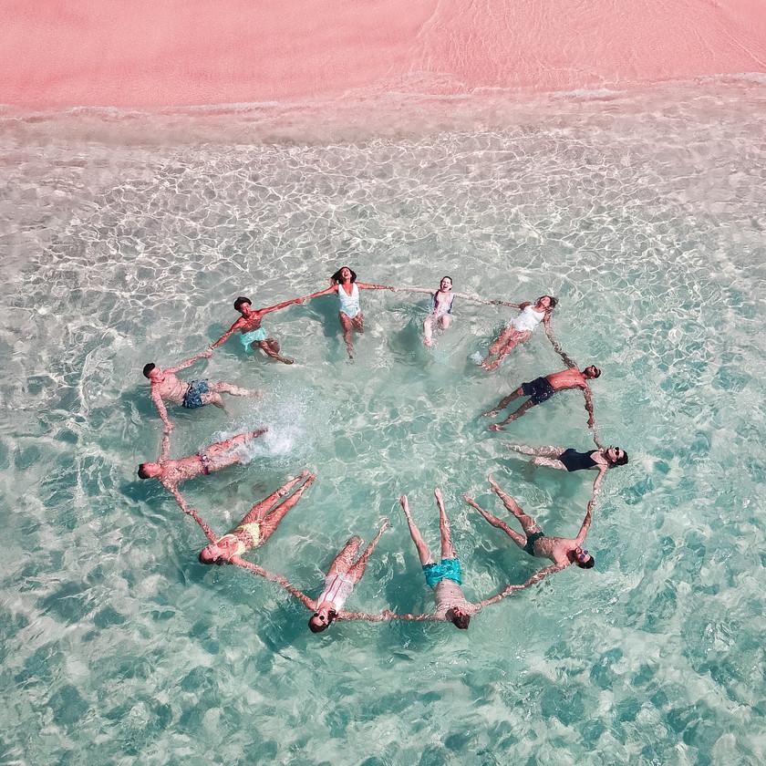 Komodo island pink beach. Private tour to pink beach in Komodo. Snorkel in a beautiful pristine pink beach with Laba Laba Boat. Komodo island boat tour.