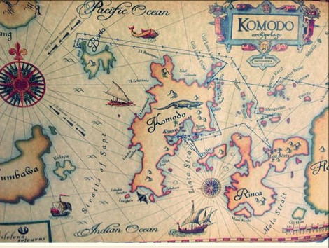 Komodo National Park Map. Komodo liveaboard tour map and itinerary with Laba Laba Boat.