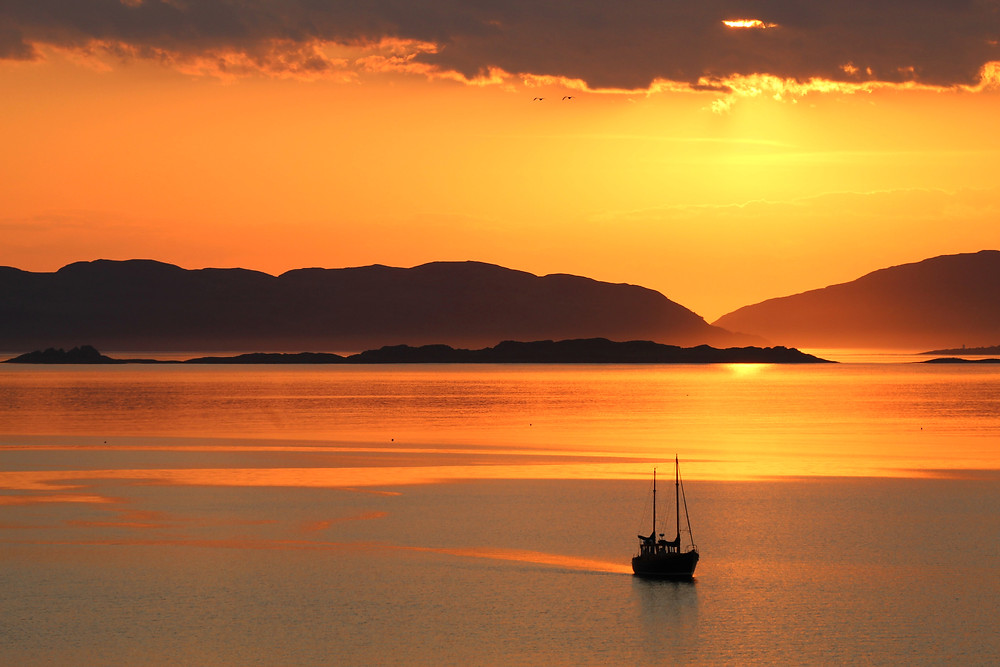 Kalong Rinca. Sunset in Komodo. Komodo island tour, labalaba boat.