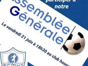Assemblée Générale le 21 Juin à 18h30 au club house du FCM :
