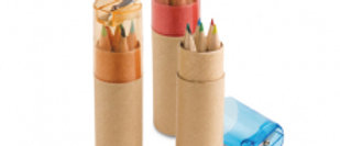 Pencil box with 6 coloured pencils